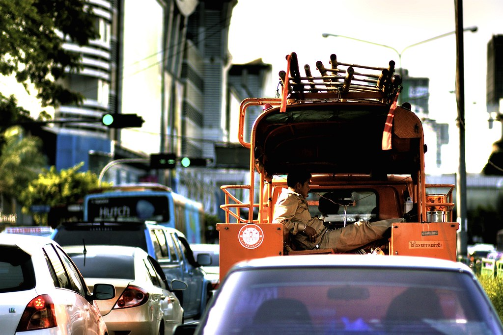 Bangkok city worker
