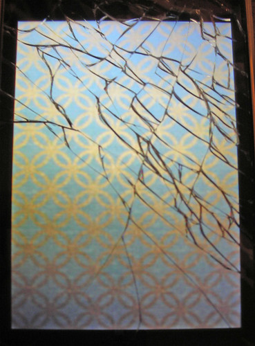 cracked iphone screen - Day 5