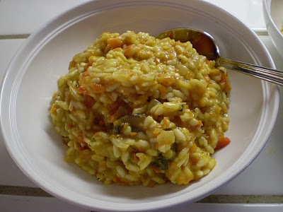 Domestic Engineer: Roasted Red Pepper and Mushroom Risotto
