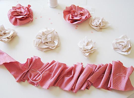 Silk Flower Necklace DIY -2