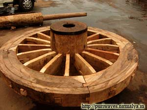 Wheel Of Rath ( Chariot ) is finally constructed and fixed