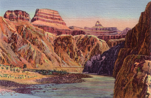 The Zoroaster and Colorado River, Grand Canyon, Arizona [GC-7]