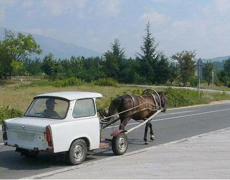 Carroza de caballos Trabant