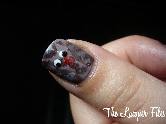 Owl Thumb Nail Art Design Hoot