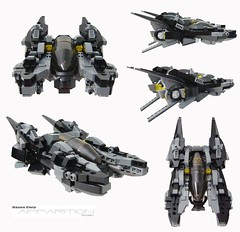 Apparition RG-99A (Hase0) Tags: black anime fighter lego spaceship spacefighter hase0