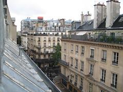 La vue sur le centre Pompidou