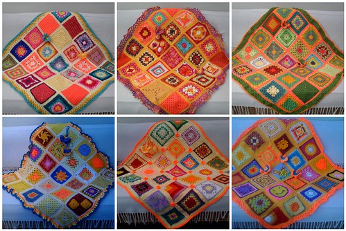 The 6 'Sun themed Blankets' SIBOL we have made altogether! Thank you Ladies!