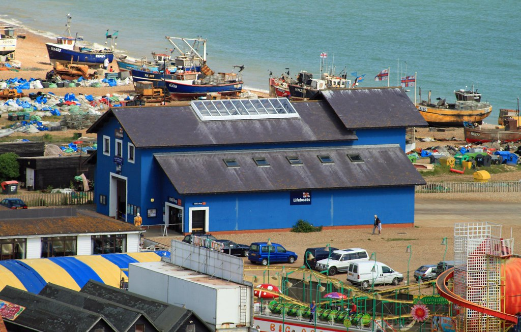 Hastings RNLI Lifeboat Station. From West Hill