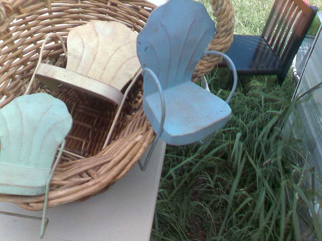 Miniature Lawn chair decorations