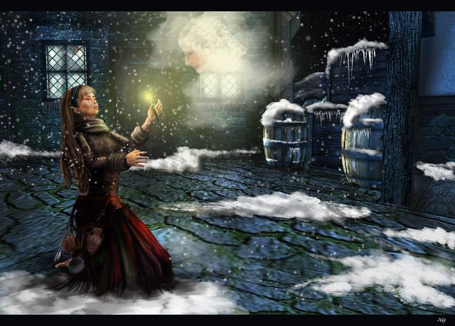 The Little Match Girl by Adonaira