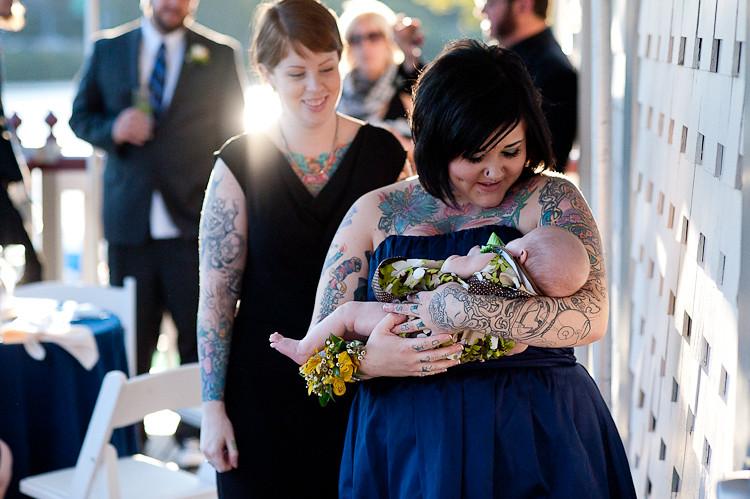 tattooed groom & bride