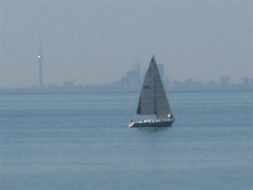 Lago Ontario y Toronto al fondo