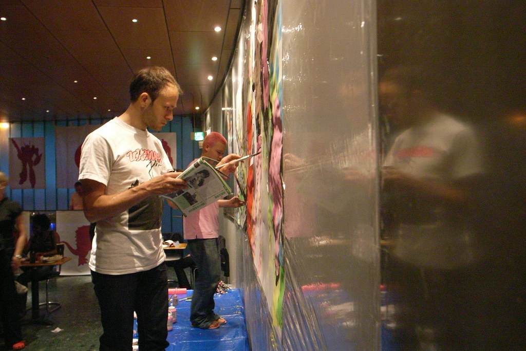 painting battle at Lantaren/Venster