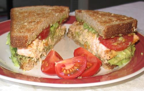 Avocado & Salmon Sandwich