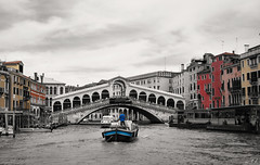 Painting  Venezia (wtl photography) Tags: city bridge venice bw italy color water painting italia selection ponte venezia rialto italians veneto wtl flickrdiamond thatsclassy