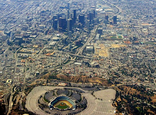 Dodger Stadium-Downtown L.A. by kla4067.