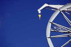 Wheel (Angela's eyes) Tags: blue haven wheel harbour crane schiedam kraan wiel janvangalenstraat