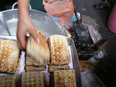 Cambodian waffles