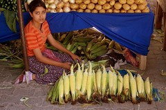 Beauty (B@ni) Tags: frutas girl beauty turkey corn trkiye mercado turquie trkei bazaar turquia vegetales izmir gzel msr pazar zdere genkz fotografca