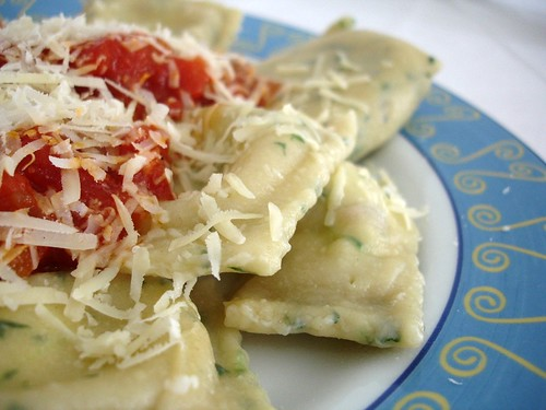 Ricotta and walnut ravioli