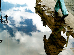 walking at the edge of the end of the world ((3)) Tags: street reflection clouds walking mexico dimension centrohistrico mxicodf piratetreasure colorphotoaward piratetreasure2 piratetreasure3 captainschest1