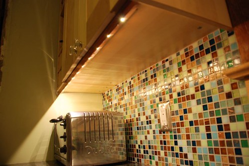 mosaic tile on the backsplash
