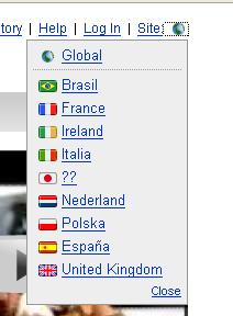 Länder-Auswahl