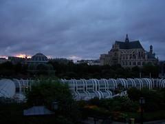 St. Eustache and Les Halles (ty law) Tags: sunset summer vacation paris france purple leshalles colbert steustache jeanbaptistecolbert
