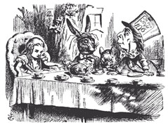 Tenniel Mad Hatter's Teaparty