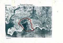 Millbay Docks (Plymouth Libraries) Tags: cornwall map aircraft nazi plymouth aerial devon photograph german target bomb blitz bombing reich devonport secondworldwar stonehouse luftwaffe plymstock saltash torpoint