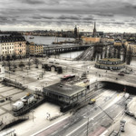 View of Stockholm. Vista de Estocolmo