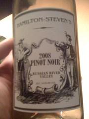 2008 Hamilton-Steven's Pinot Noir