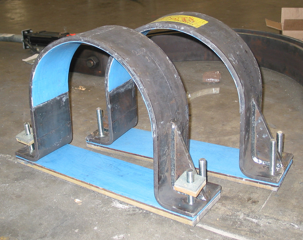 Two 16 Dia. HD-2 Hold Down Clamps for an Oil Refinery