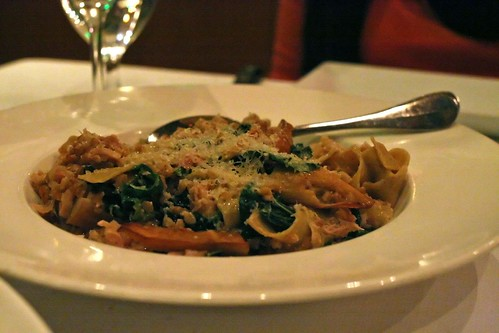 confit rabbit and hand cut pappardelle; king trumpet mushrooms, tuscan kale, anson mills farro, thyme, olive oil