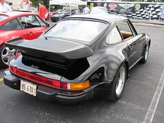 1985 Porsche 911 Turbo at 2010 St. Louis European Auto Show_IMG_5561 (Wampa-One) Tags: black car european 911 autoshow turbo porsche 1985 carshow fenders 930 stlouismo saintlouismissouri plazafrontenac whaletailspoiler 2010stlouiseuropeanautoshow