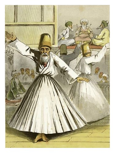 016- Danza de los Derviches-Sketches of character and costume in Constantinople 1854- Forbes Mac Bean
