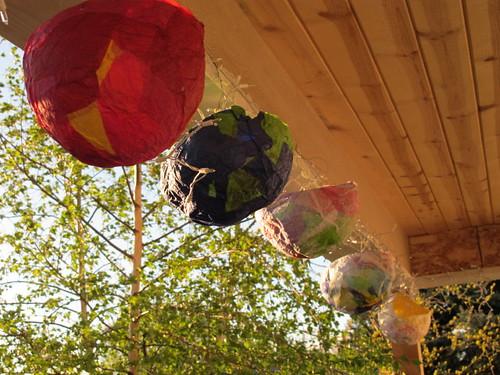 Pretty papier mache lanterns ...