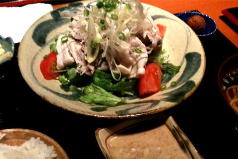 アグー豚冷しゃぶサラダ定食。