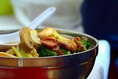 Sopa de Fideos, Mariscos, Vegetales y Carnes Mixtas