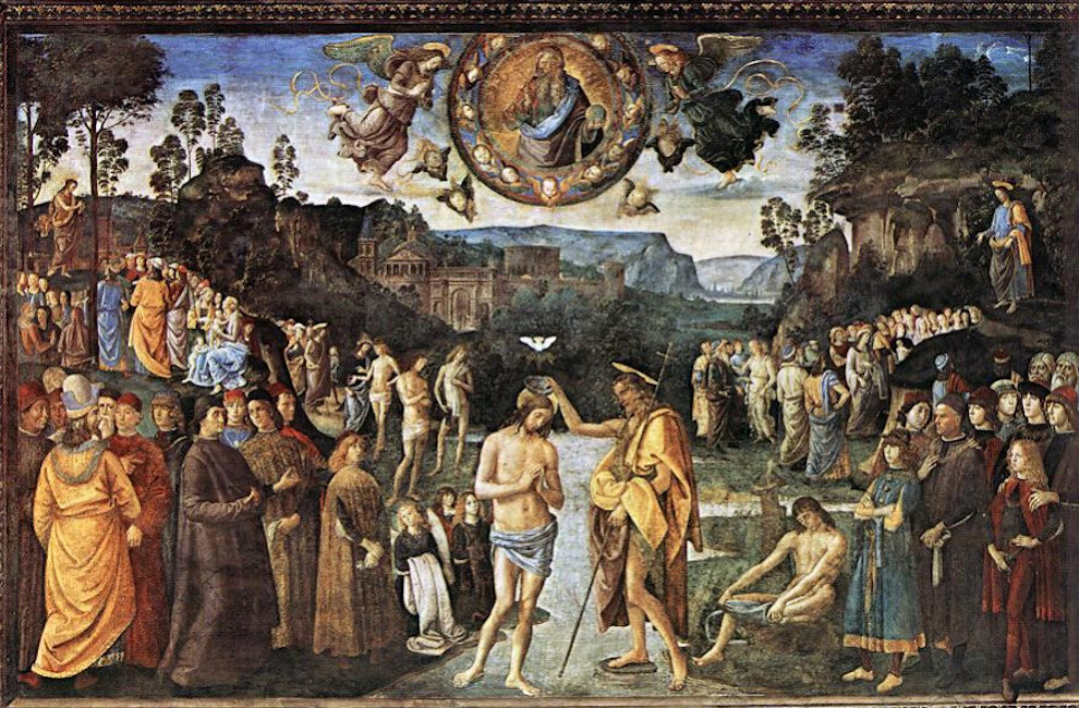 Sistine Chapel Northern Wall- The Baptism of Jesus