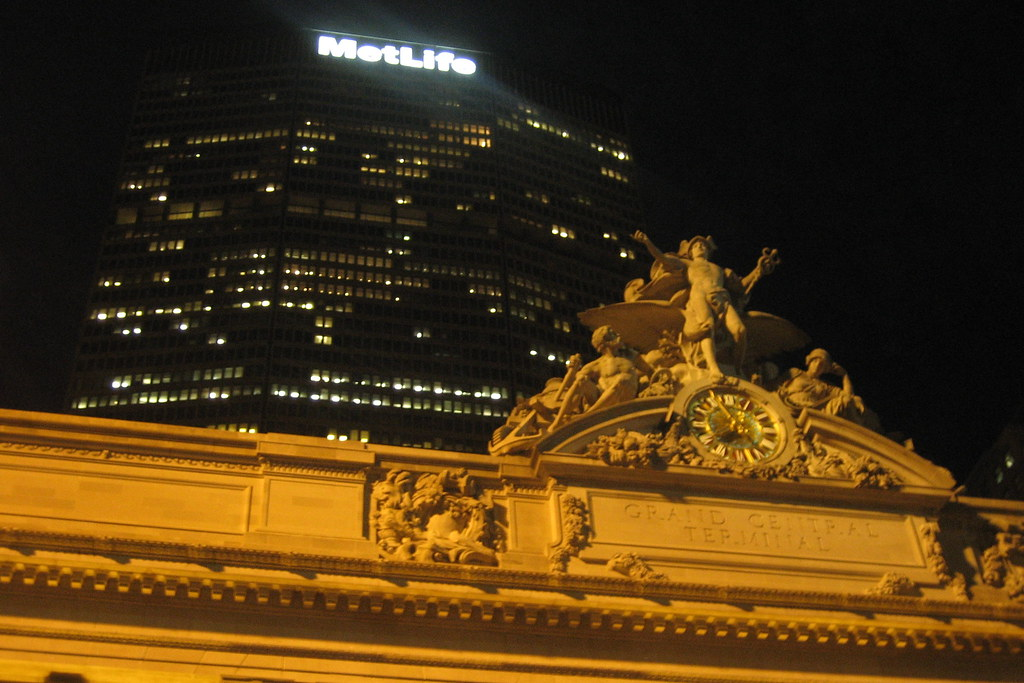 NYC - Grand Central Terminal and Met Life Building