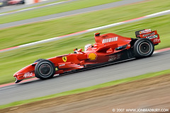 Ferrari F1 Testing 2007 (jonbradbury) Tags: world red sport june speed wonderful kimi one interestingness nice northampton fiat good alice great northamptonshire bridgestone champion amd f1 ferrari testing sharp explore silverstone enzo formula glowing brake motor 70300mm discs motorsport 2007 blurring kimiraikkonen canoneos400d tamron70300mmld