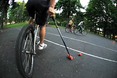 Bike polo in Alberta Park