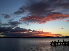 Just Another Tuesday Night (pominoz) Tags: sunset lake pier belmont jetty wharf nsw lakemacquarie belmontsouth