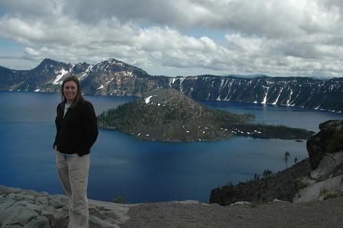 Posing at Crater Lake