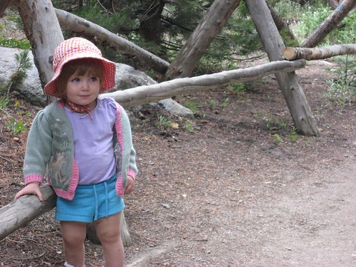 Cute Little Girl near Bear Lake