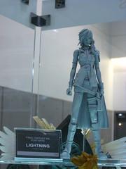 Raw sculpt of Lightning of FFXIII