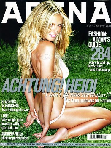 Heidi Klum na Arena Magazine