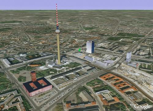 グーグルアースで見たベルリン