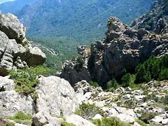 Dans la traversée du versant Arjetu - Morello